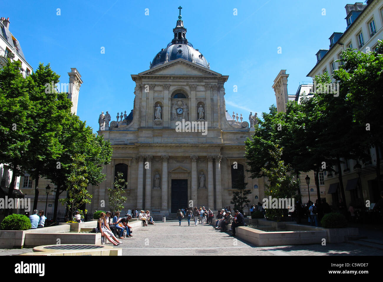 The Sorbonne in Paris Stock Photo