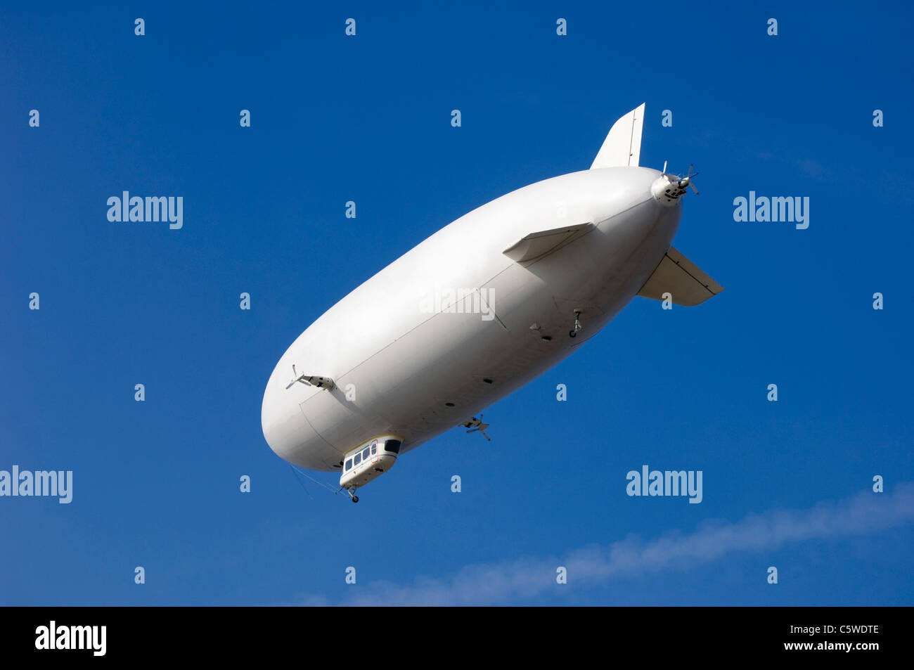 Germany, Baden-Württemberg, Blimp, low angle view - Stock Image