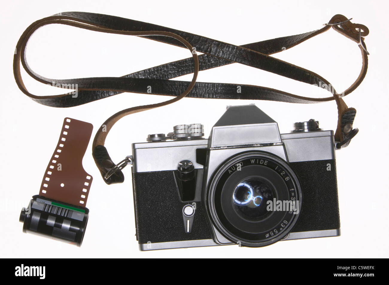 SLR camera, close-up - Stock Image