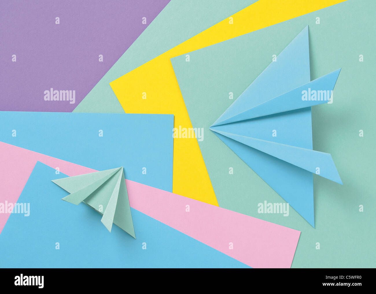 Colored Paper Stock Photos Images Alamy Origami Nut Spring Image