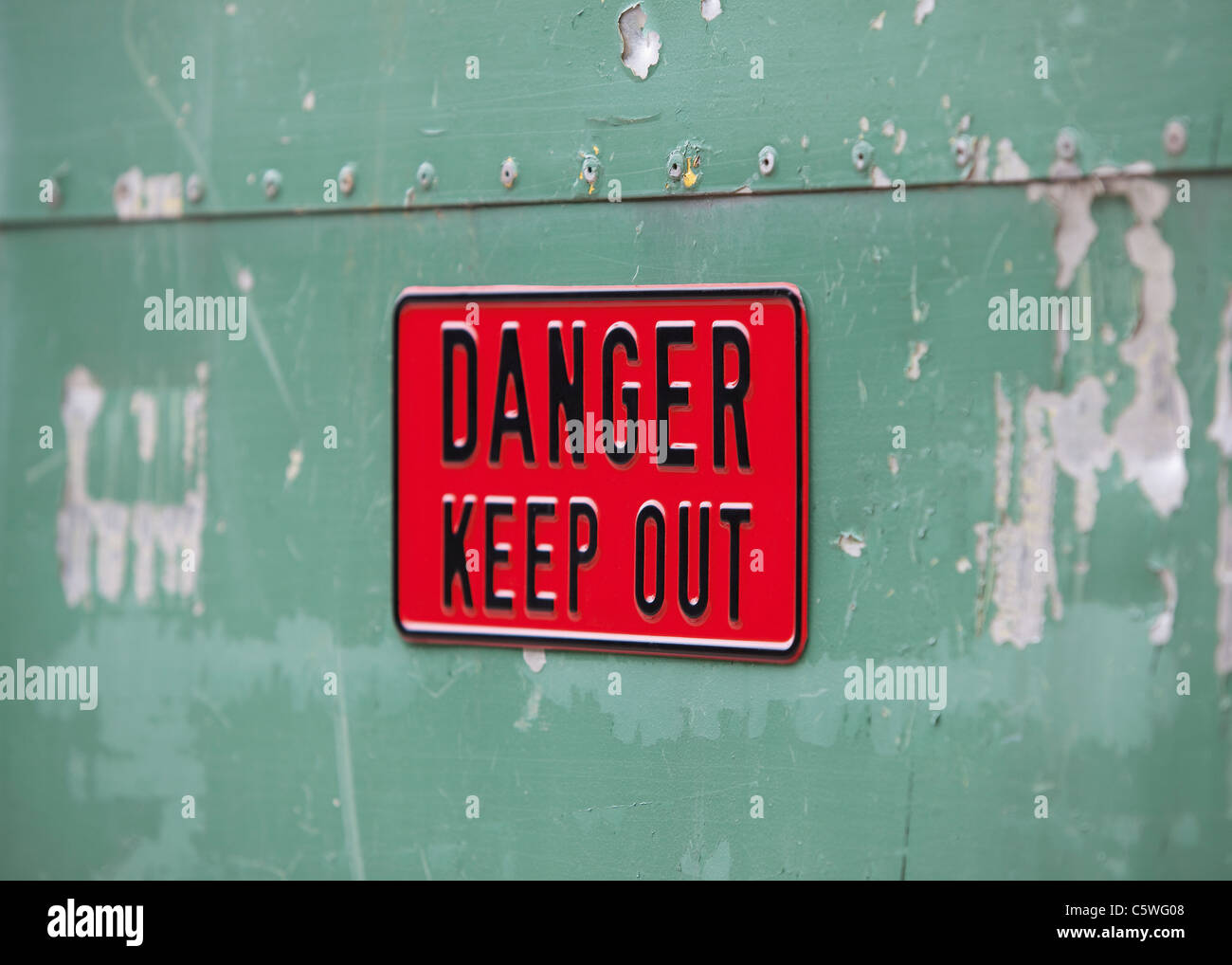 United Kingdom, Danger keep out sign - Stock Image