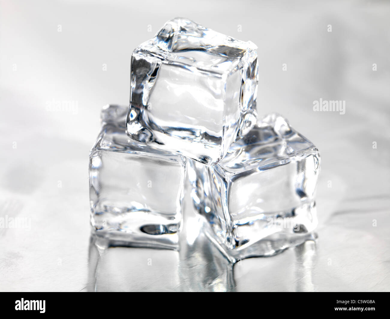Awe Inspiring Frozen Ice Cubes Isolated On A Kitchen Bench Stock Photo Pdpeps Interior Chair Design Pdpepsorg