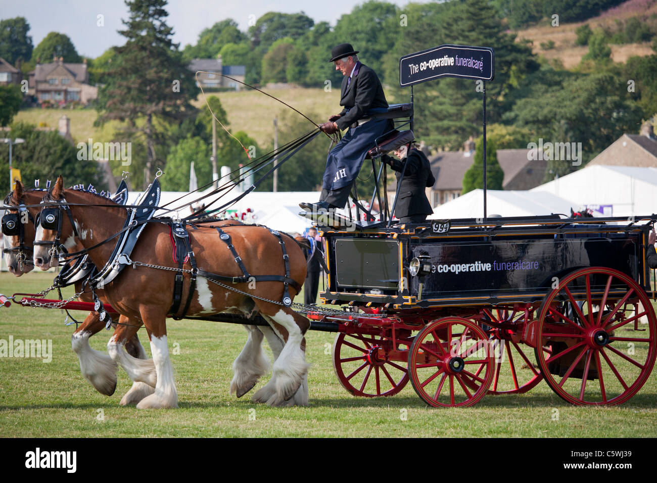 Heavy Horse Turnouts at the Bakewell Show, Bakewell, Derbyshire, England, UK - Stock Image