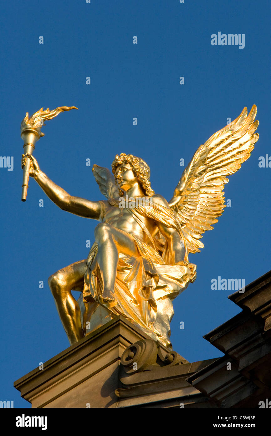 Germany, Dresden, University of Visual Arts, Statue of Eros, close-up - Stock Image
