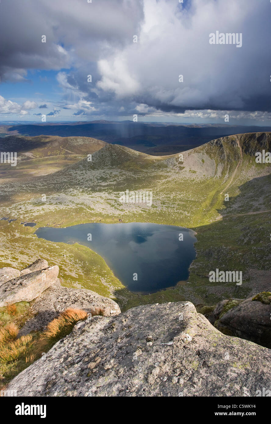 Lochnagar. View from Cac Carn Mor looking east, Grampian Mountains. Scotland, Great Britain. - Stock Image