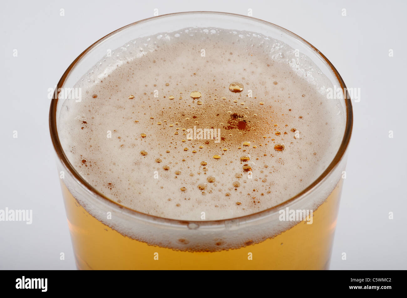 Glass of larger - Stock Image