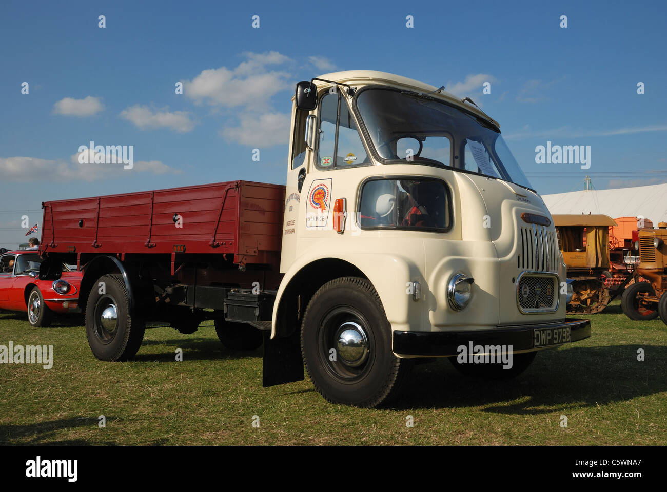 A 1964 BMC 1 5 ton truck (known as a 'Threepenny Bit Cab' Stock