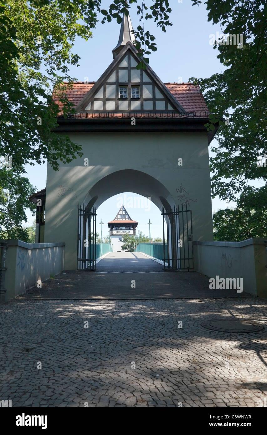 Abteibrücke, Insel der Jugend, Berlin, Germany - Stock Image