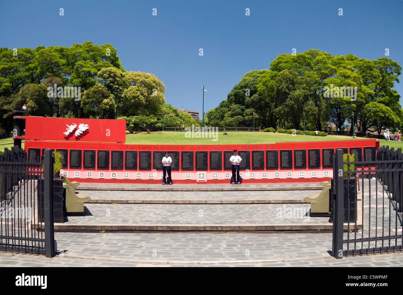 Islas Malvinas War Memorial, Plaza San Martin, Buenos Aires, Argentina - Stock Image