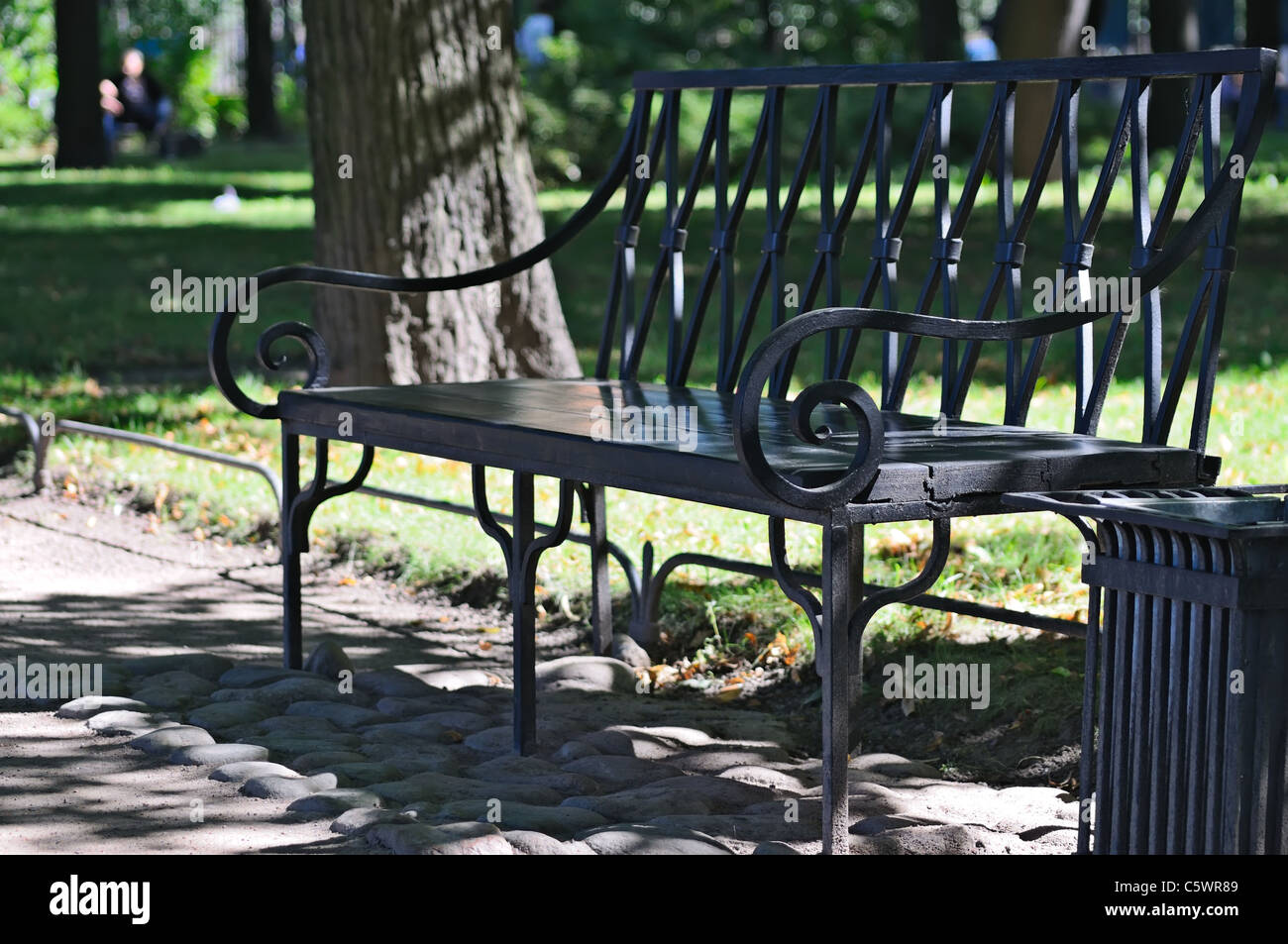 A Old Style Bench In The Park Stock Photo 38061081 Alamy
