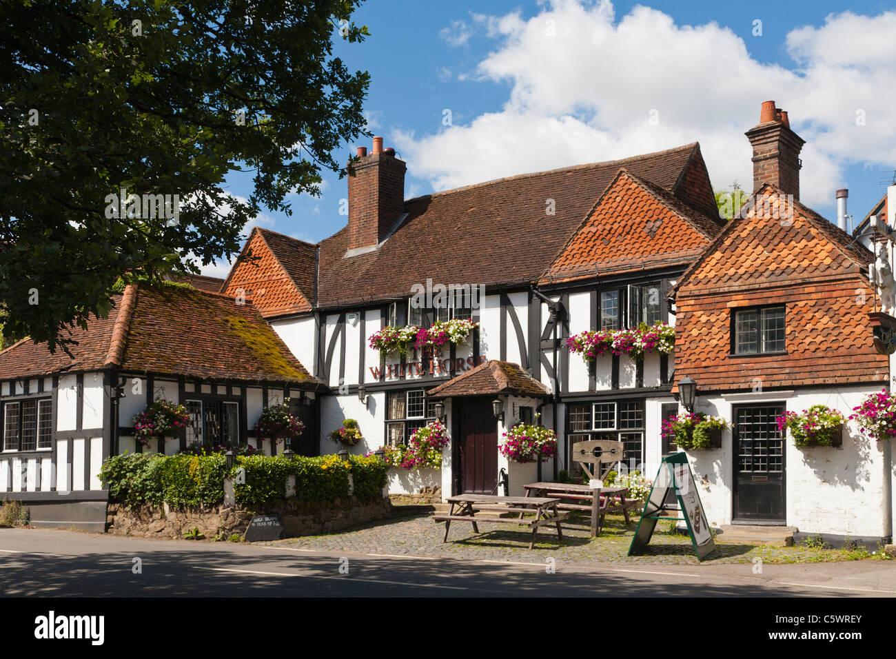 Shere Village Pub Guildford Surrey England - Stock Image