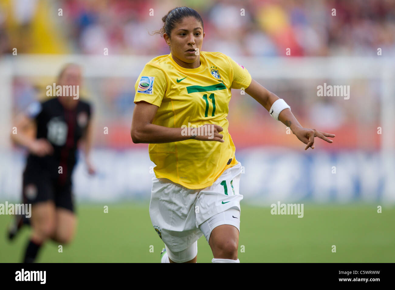 Cristiane of Brazil in action during a FIFA Women's World Cup quarterfinal match against the United States July - Stock Image