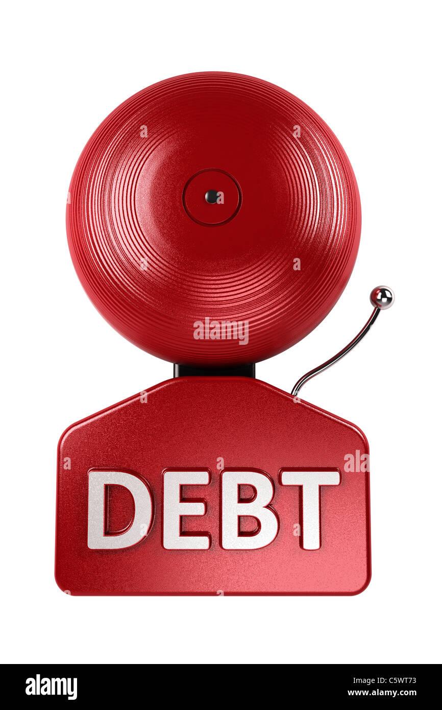 Debt alarm Stock Photo