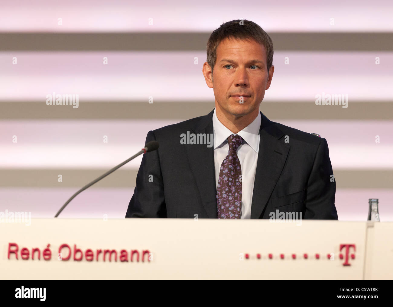 Rene Obermann, CEO Deutsche Telekom. Stock Photo