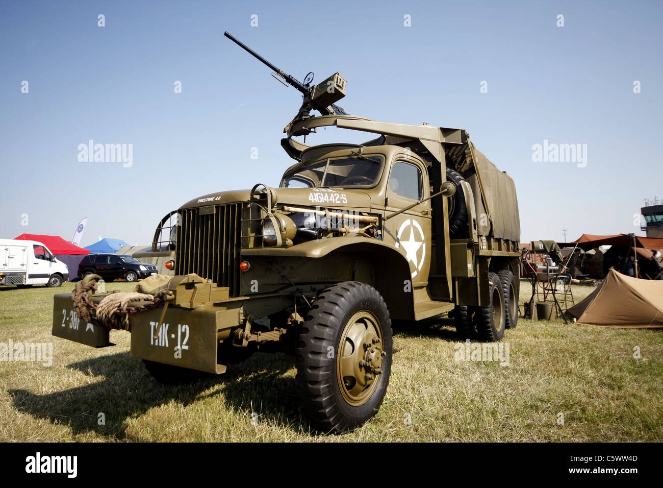 GMC PRESTONE 42 US ARMY TRUCK WORLD WAR II HISTORIC DISPLAY 03 July 2011 - Stock Image