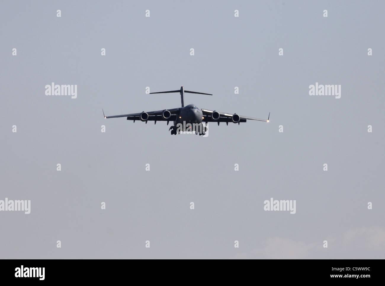 MCDONNELL DOUGLAS C-17 GLOBEMASTER III US AIR FORCE 03 July 2011 - Stock Image