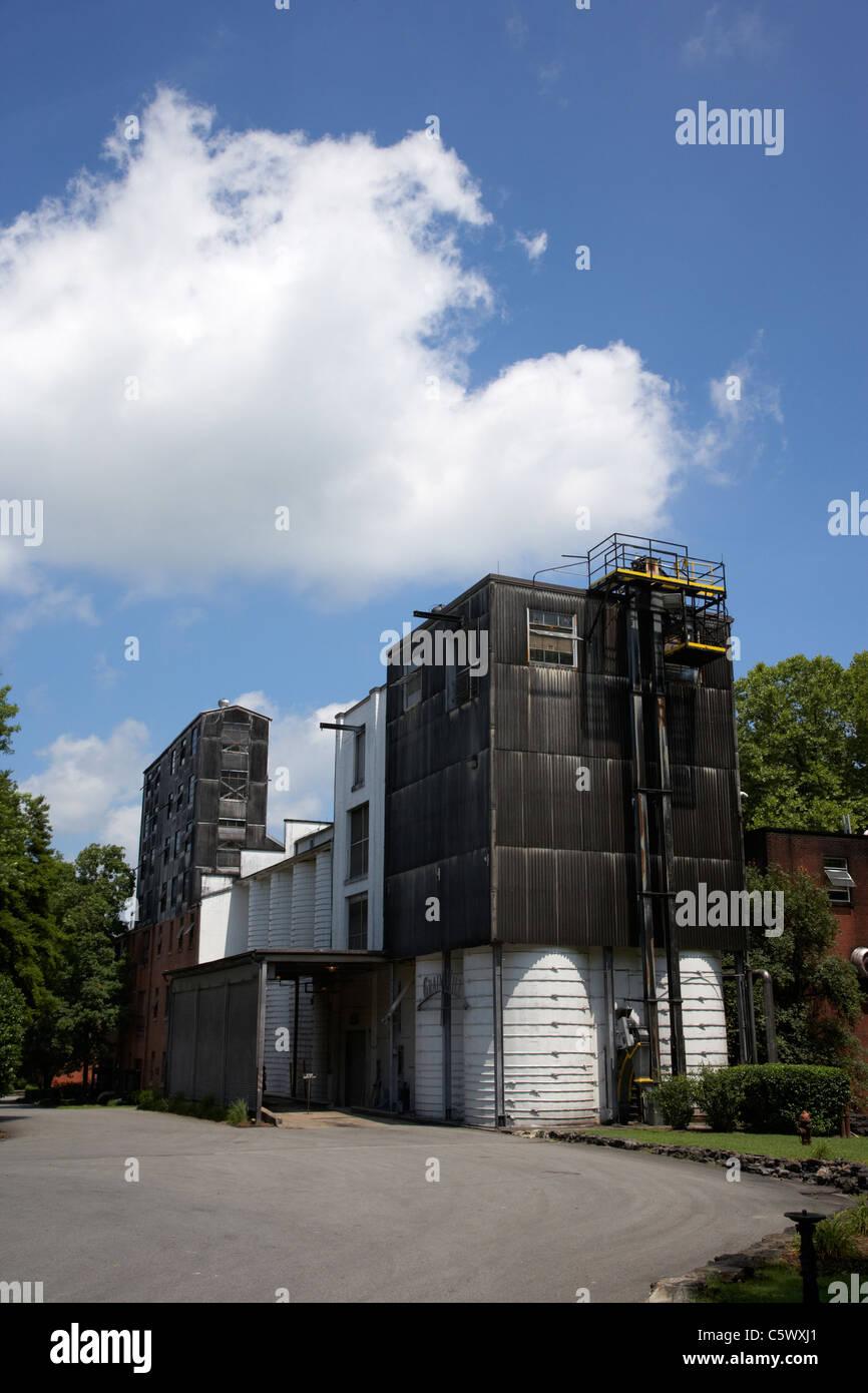 grain mill at jack daniels distillery Lynchburg , tennessee , usa - Stock Image