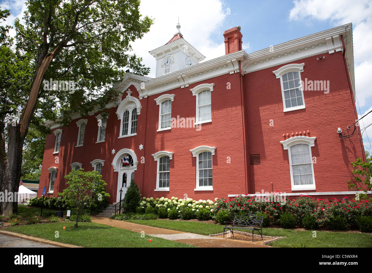 Lynchburg moore county courthouse , tennessee , usa - Stock Image