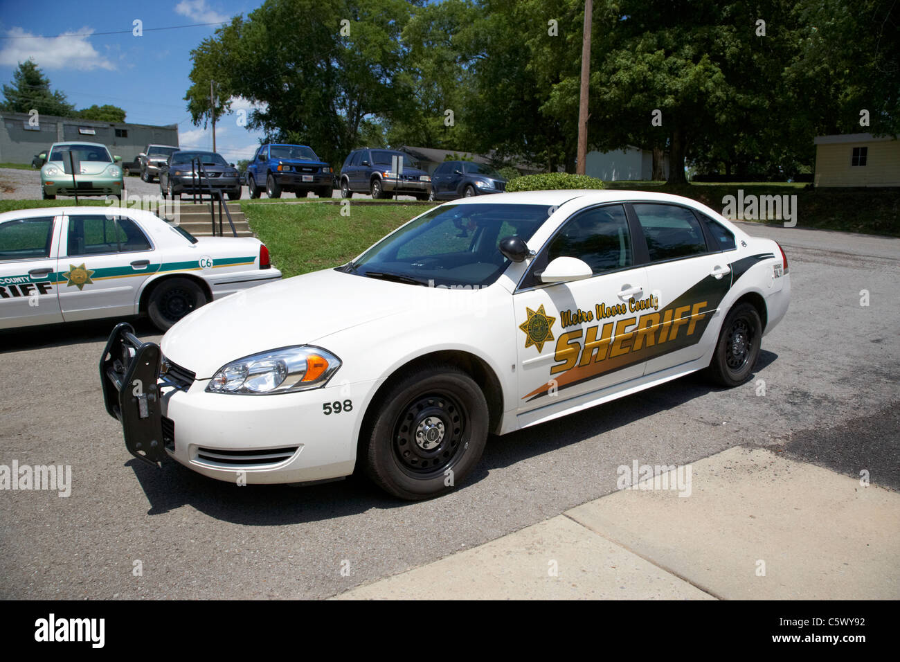 metro moore county sheriffs dept police car vehicle Lynchburg , tennessee , usa - Stock Image