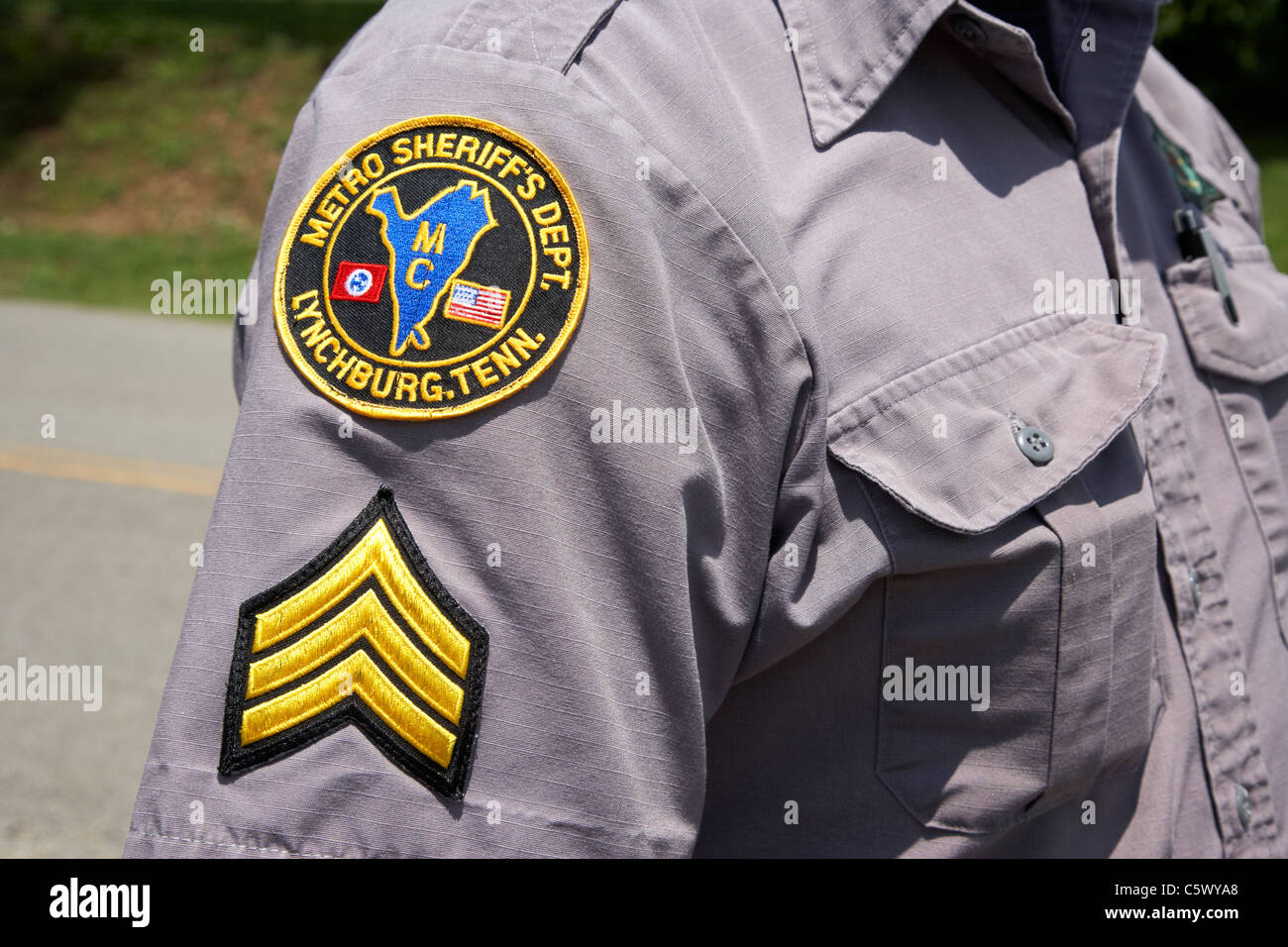 sergeant at metro sheriffs dept moore county Lynchburg , tennessee , usa - Stock Image