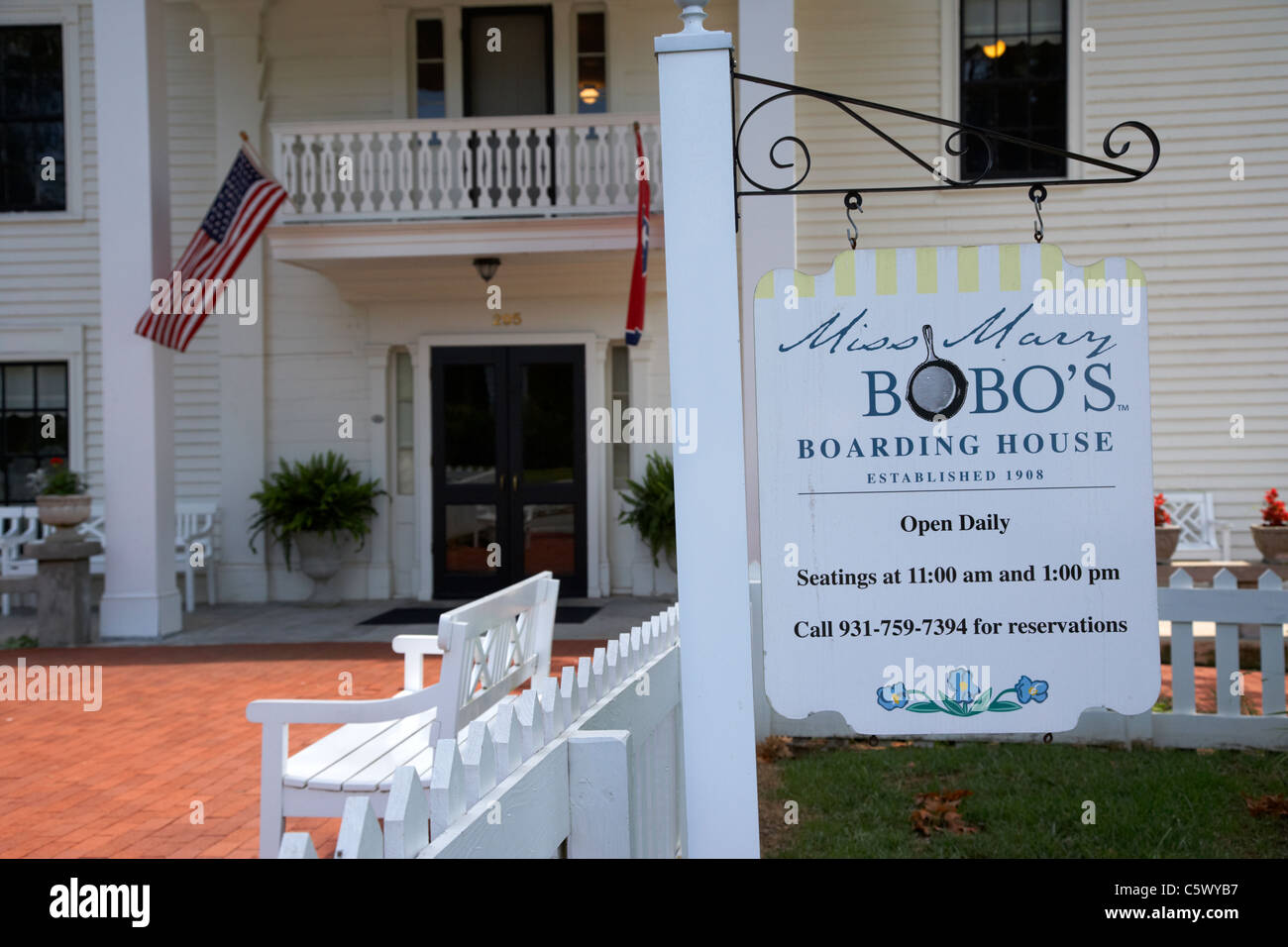 miss mary bobos boarding house in Lynchburg , tennessee , usa Stock Photo