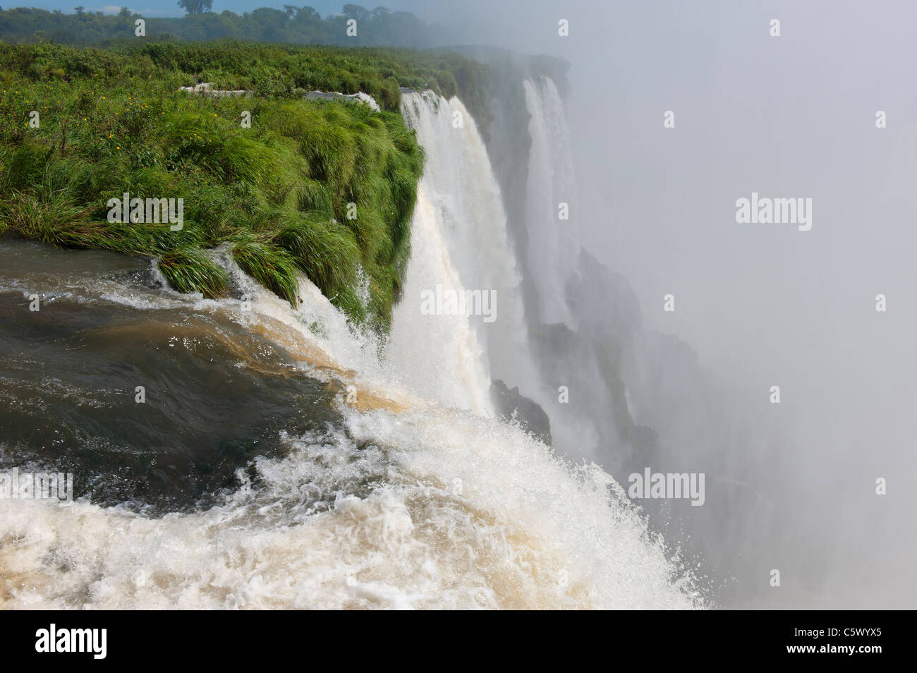 Iguazu/Iguaçu falls, Misiones Province, Argentina - Stock Image