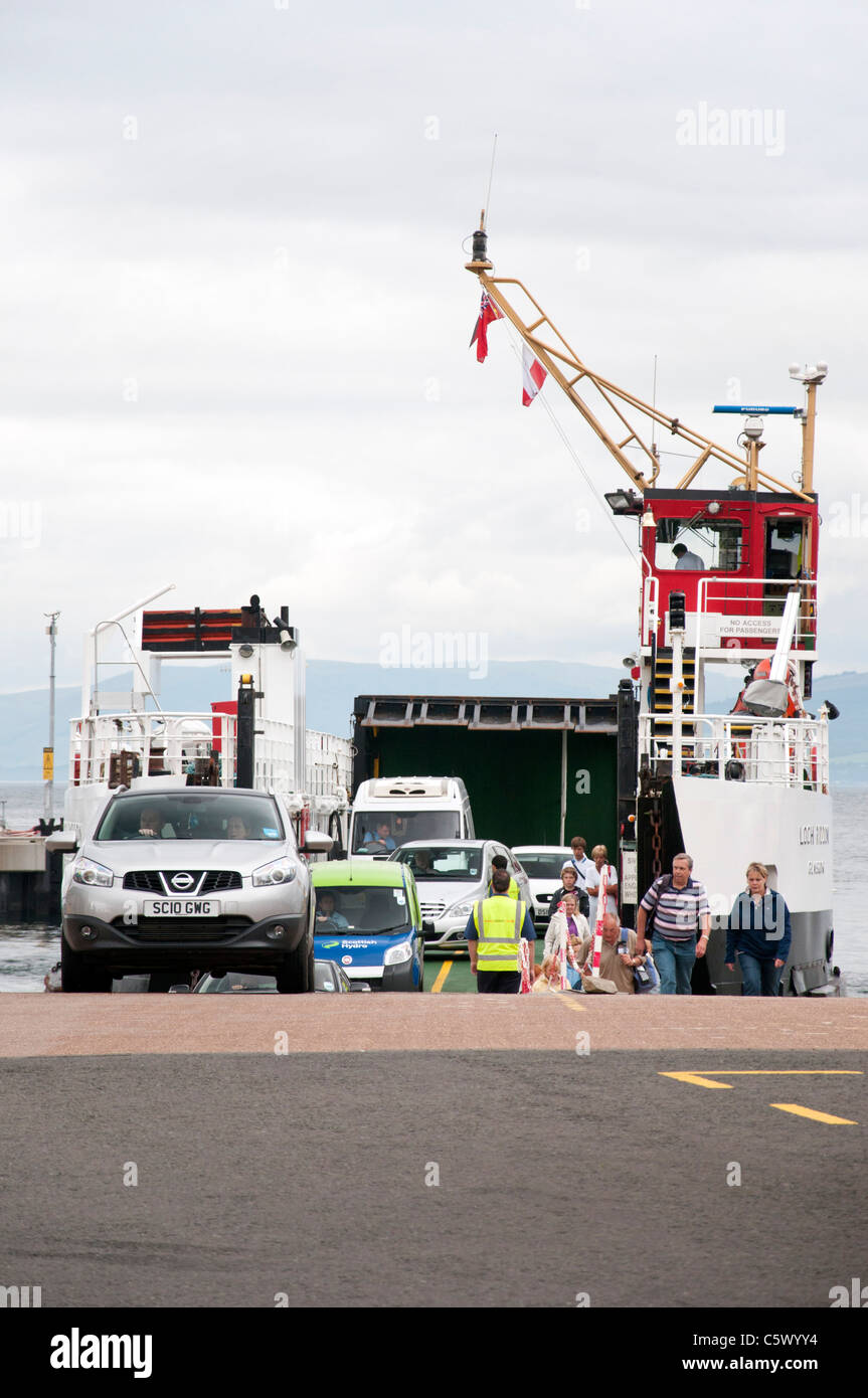 MV Loch Shira at Largs slipway - Stock Image
