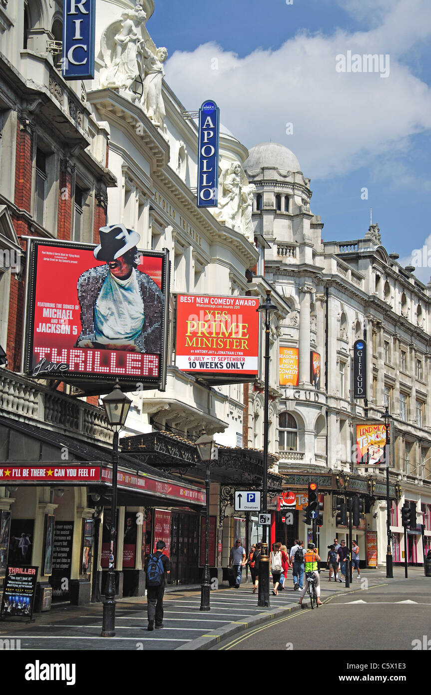 West End Theatres, Shaftesbury Avenue, Soho, West End, City of Westminster, Greater London, England, United Kingdom - Stock Image