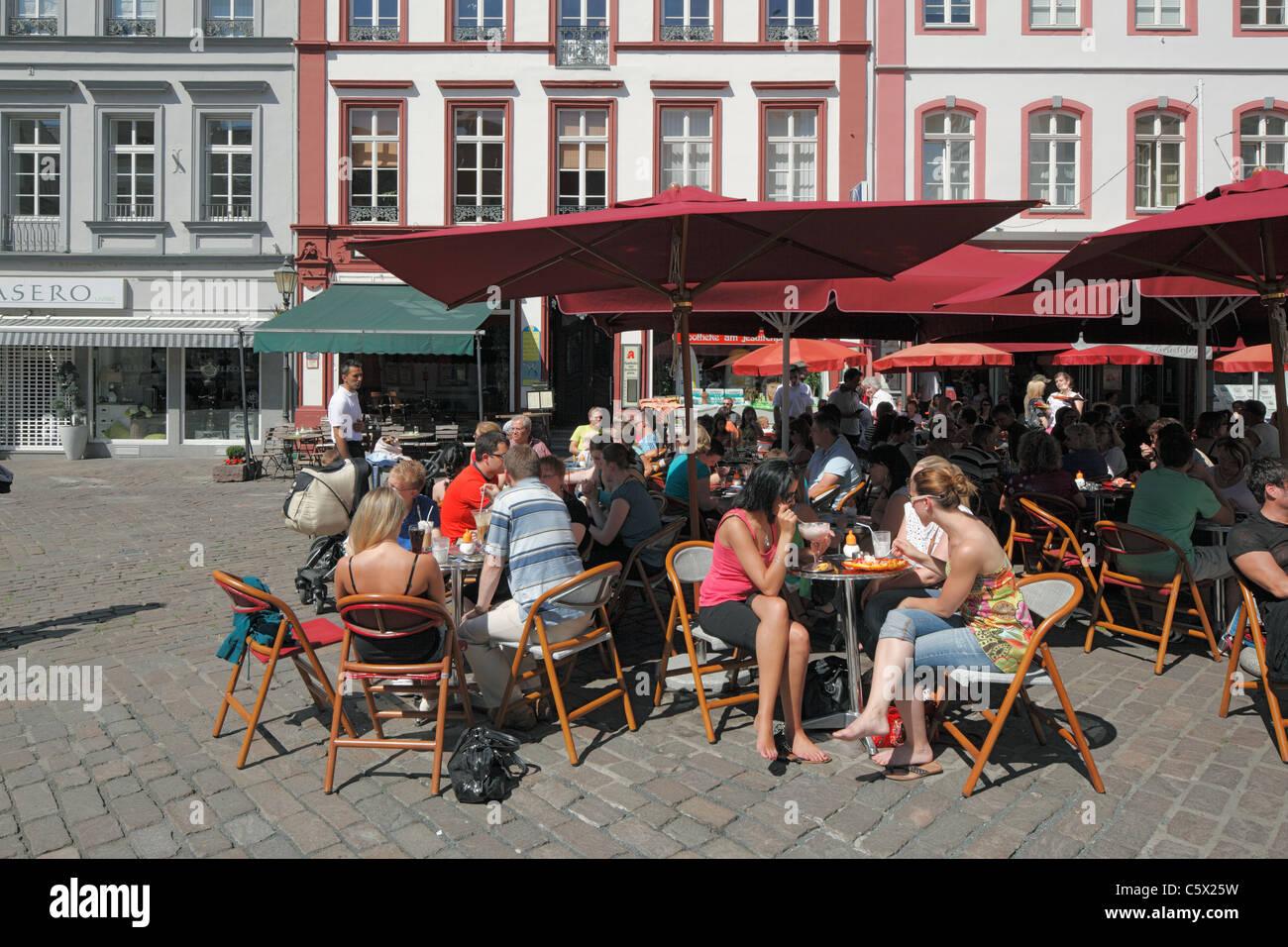 D-Koblenz, Rhine, Moselle, Maifeld, Eifel, Hunsrueck, Westerwald, Rhineland-Palatinate, old town, Jesuitenplatz, - Stock Image