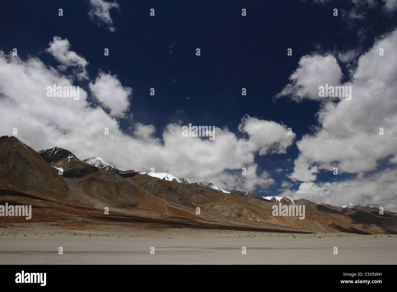Landscape of the highest cold desert in the world- Ladakh, India - Stock Image