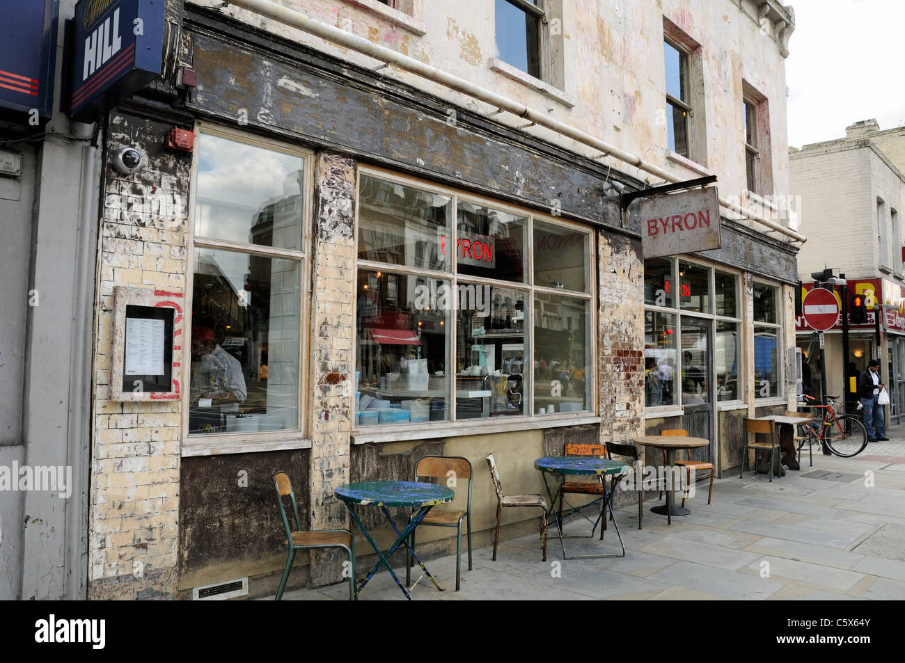 Byron Cafe With Tables Outside Islington Green London England UK