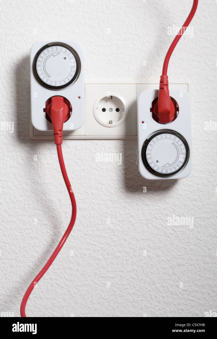 Electric Timer Stock Photos Images Alamy Electrical Switch Wiring Saving Energy And Money Image
