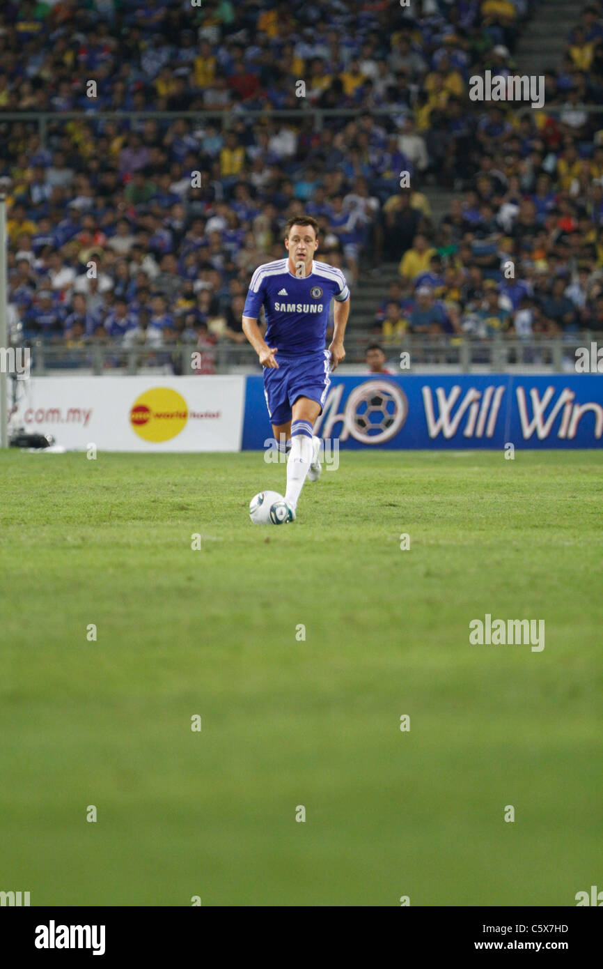 KUALA LUMPUR-JULY 21:Chelsea football club player John Terry during a friendly match against Malaysia XI on July - Stock Image