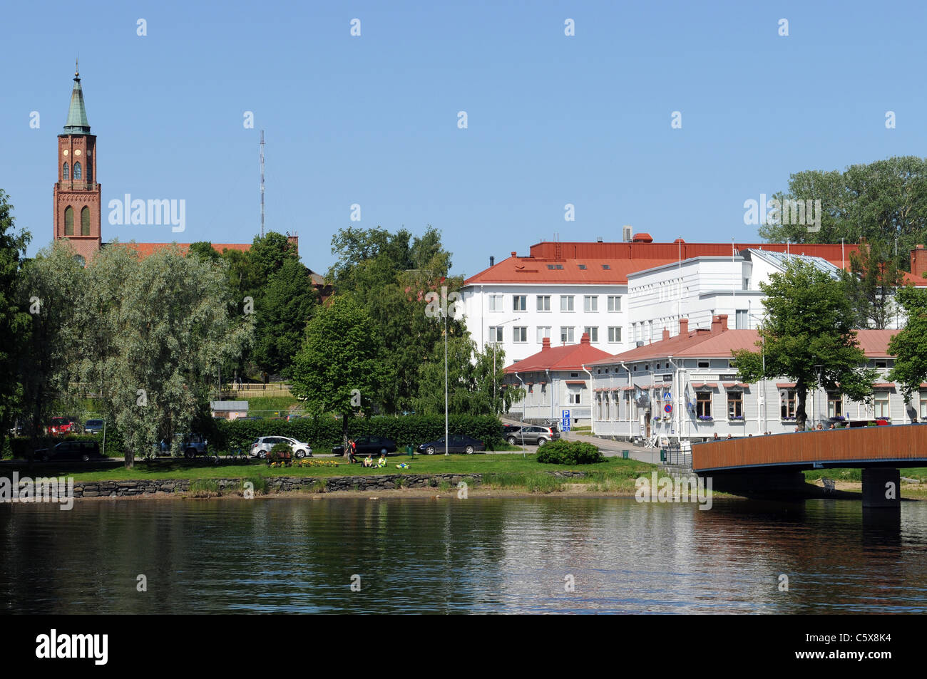 Savonlinna is a famous city in the region of Lake Saimaa in Finland Stock Photo