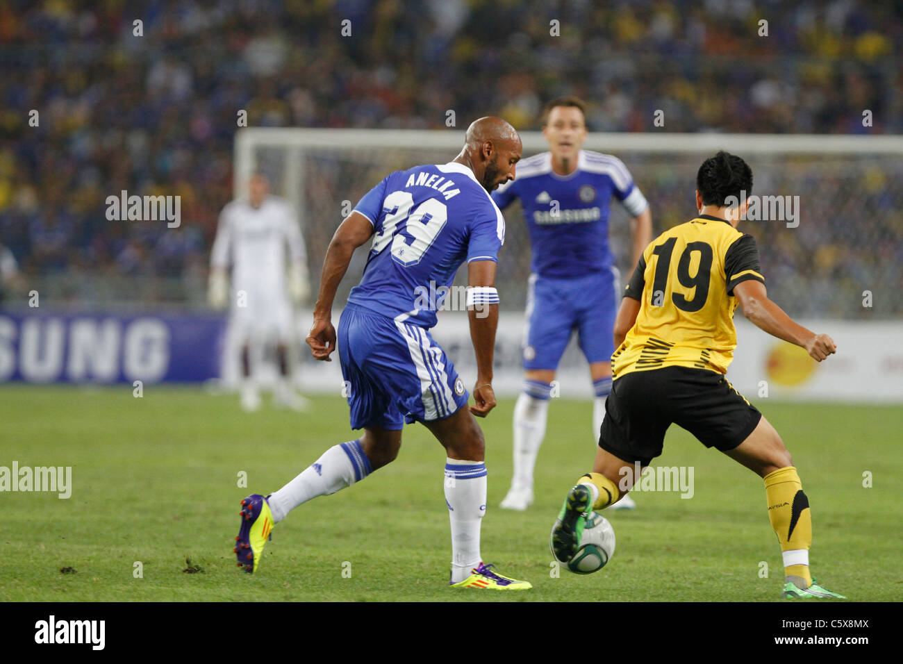 KUALA LUMPUR-JULY 21:Chelsea football club player Nicolas Anelka during a friendly match against Malaysia XI on - Stock Image