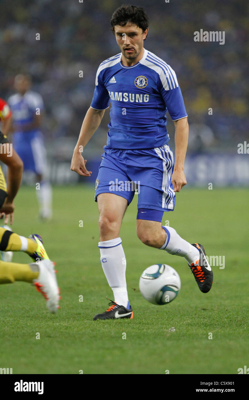 KUALA LUMPUR-JULY 21:Chelsea football club player Branislav Ivanovic during a friendly match against Malaysia XI - Stock Image