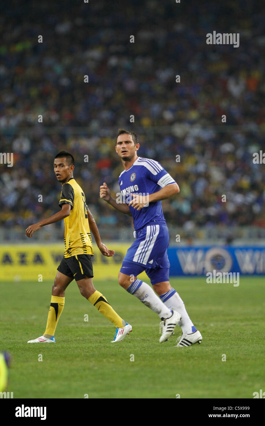 KUALA LUMPUR-JULY 21:Chelsea football club player Frank Lampard during a friendly match against Malaysia XI on July - Stock Image