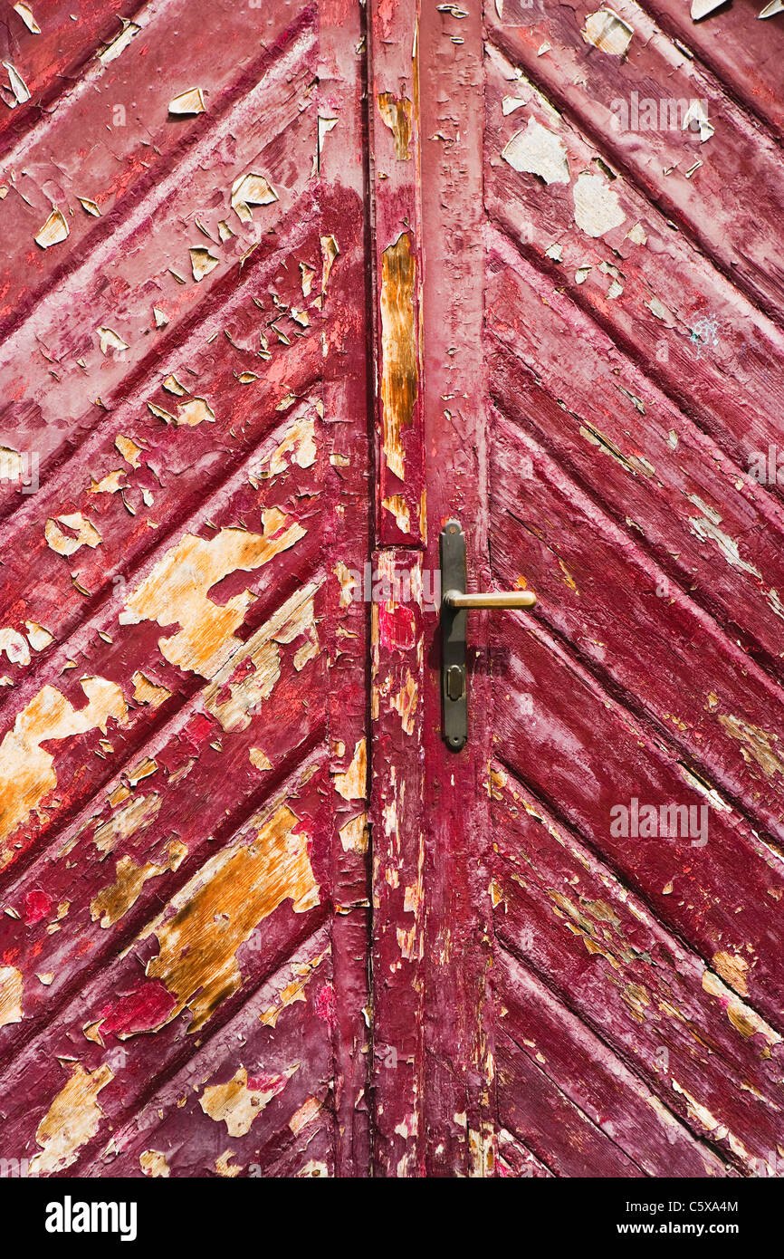 Weathered door, close up - Stock Image
