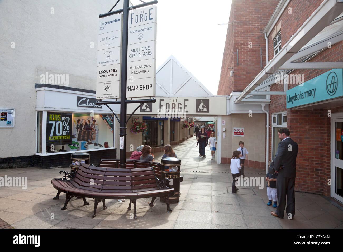 The Forge shopping centre, Stockton Heath, Cheshire - Stock Image