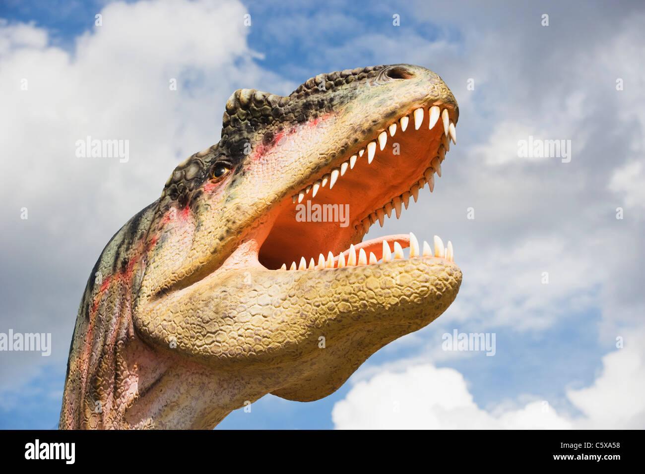 Tyrannosaurus Rex, Extinct species, Model, close up - Stock Image