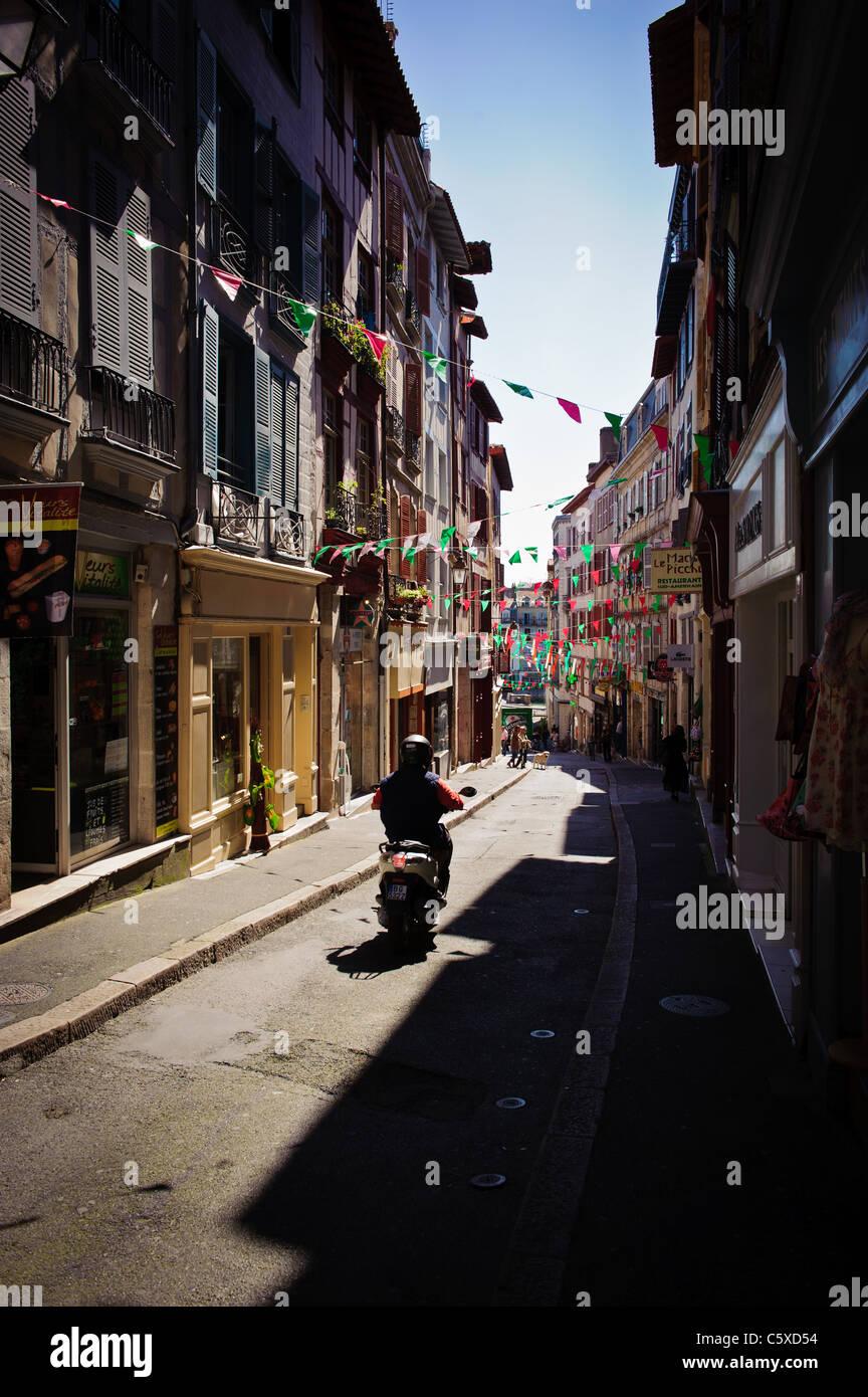 Street scene in Bayonne, France - Stock Image