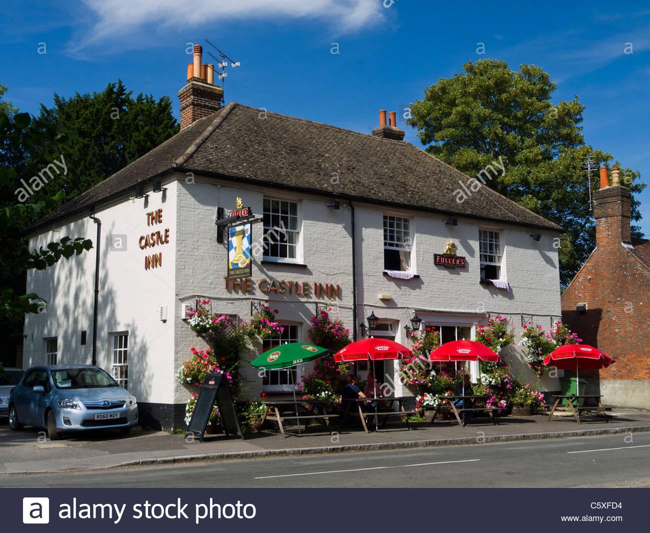 The Castle Inn Pub Rowlands Castle Hampshire England - Stock Image