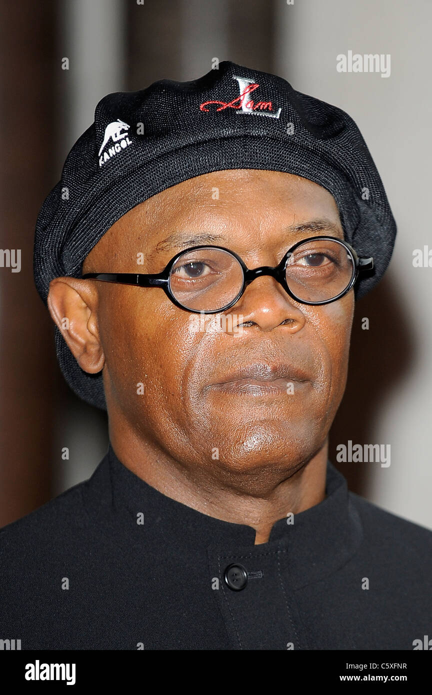 Samuel L Jackson nead Shot 2011 - Image Copyright Hollywood Head Shots 2011 - Stock Image