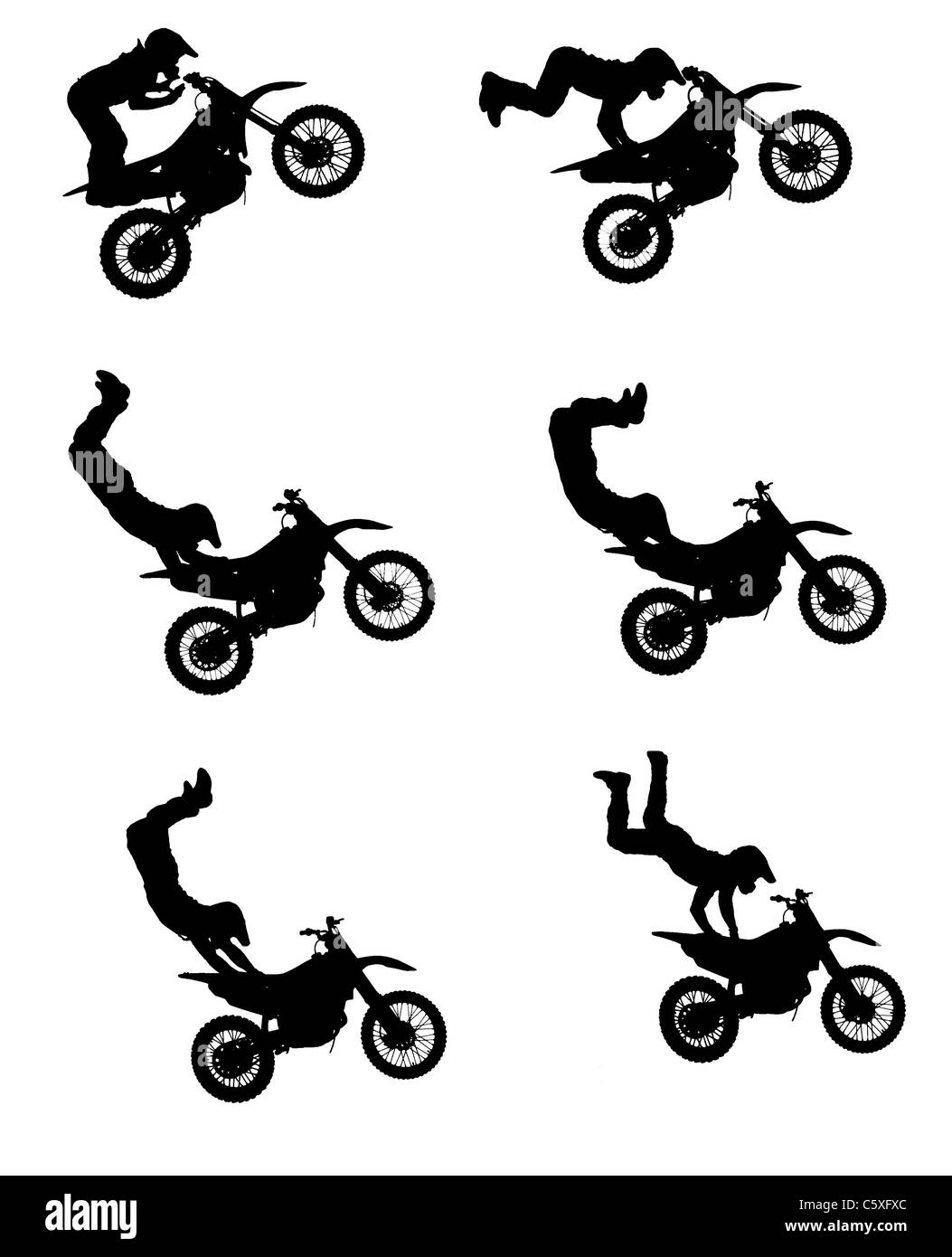 motorbike stunt rider black and white stock photos images alamy