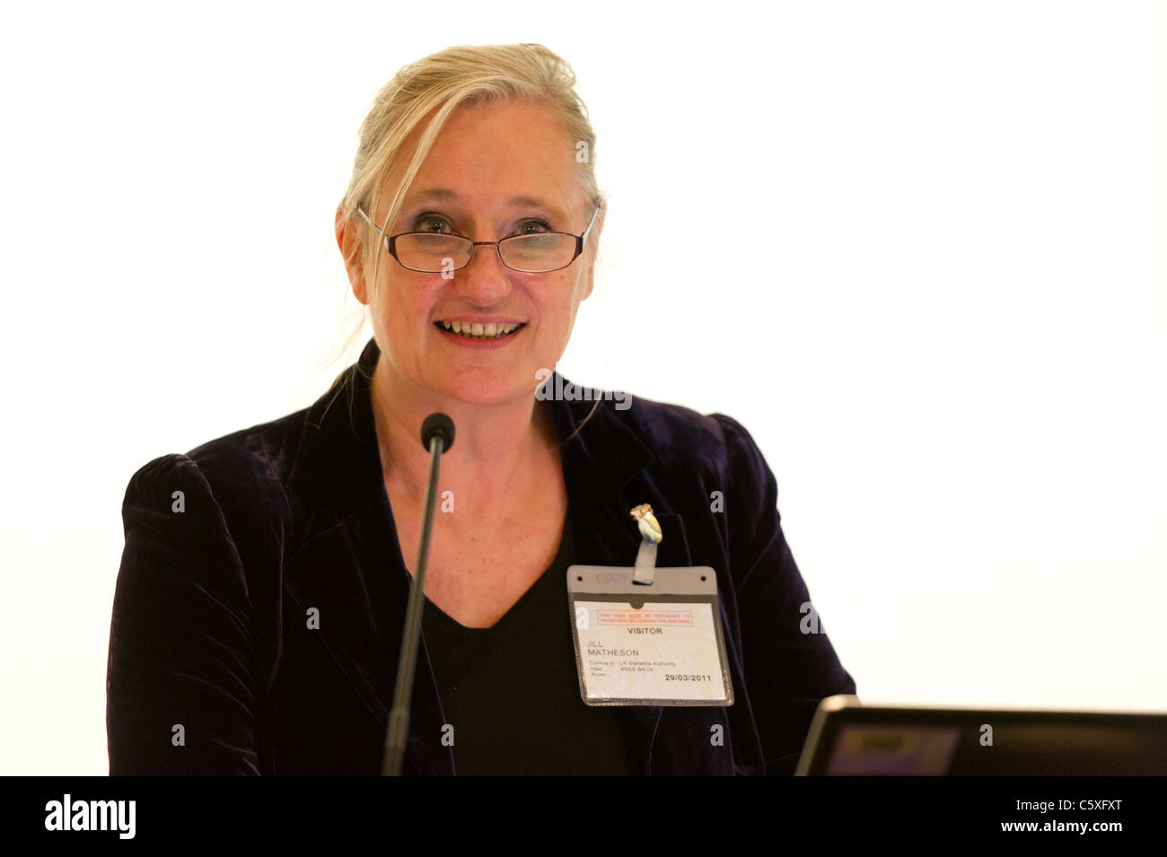 Jil Matheson, UK National Statistician, in London at the launch of the Secure Data Service. - Stock Image