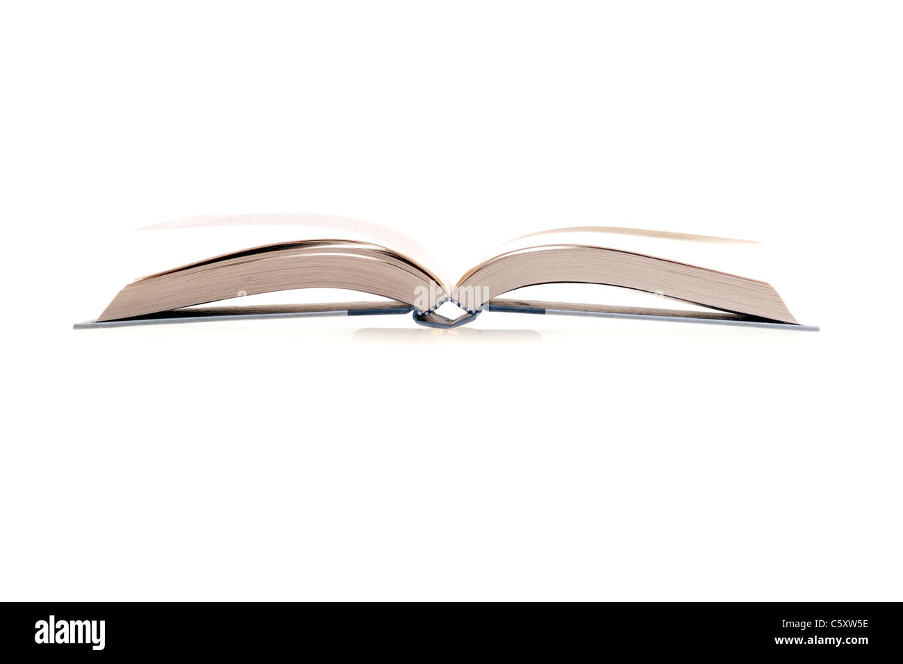 The open book image on white background - Stock Image