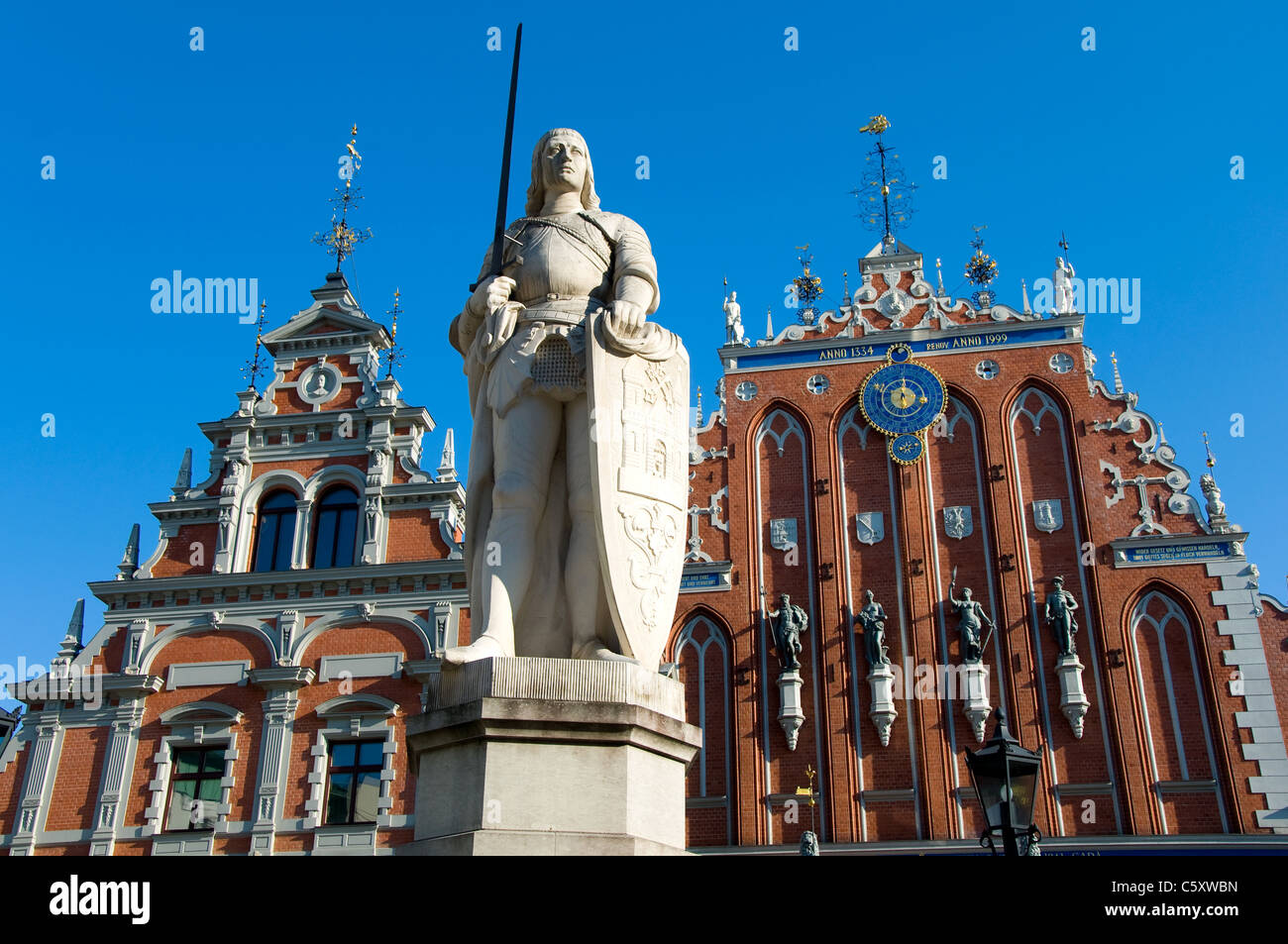 House of the Blackheads, Town Hall Square, Riga, Latvia - Stock Image