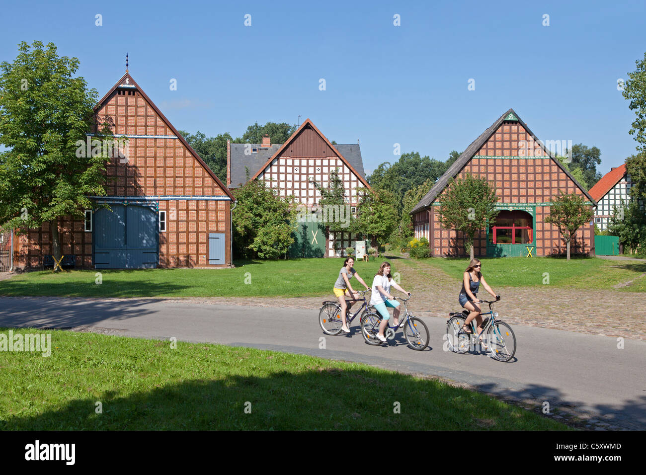 round village satemin wendland lower saxony germany stock image