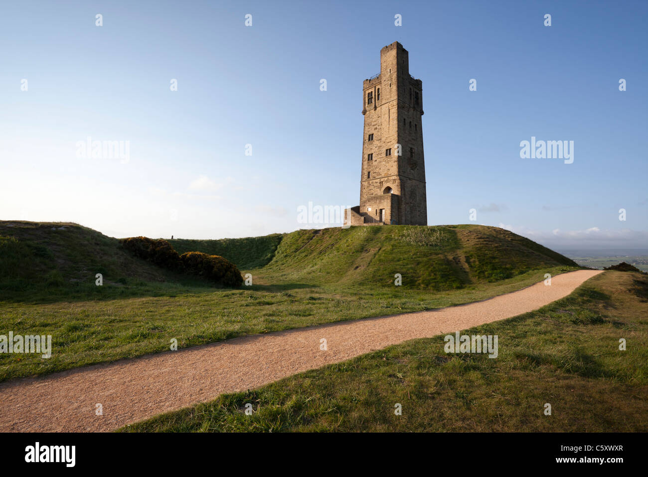 Castle Hill Tower, on  Castle Hill, Huddersfield, Kirklees, West Yorkshire. - Stock Image