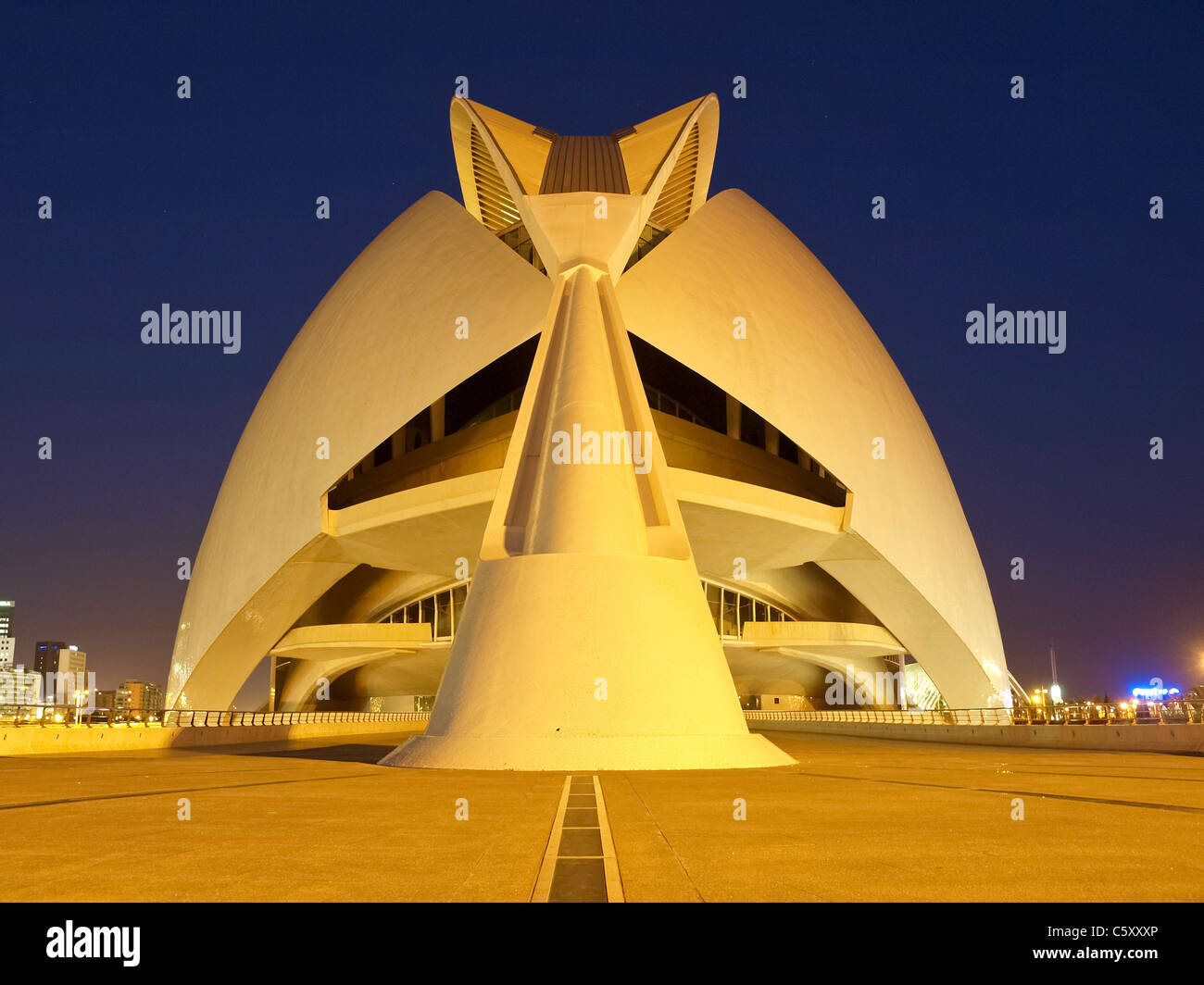 Valencia, Ciudad de las Artes y de las Ciencias, city of arts and science, Santiago Calatrava, Spain - Stock Image
